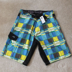 Maui & Son's Blue/Yellow Plaid Board Shorts